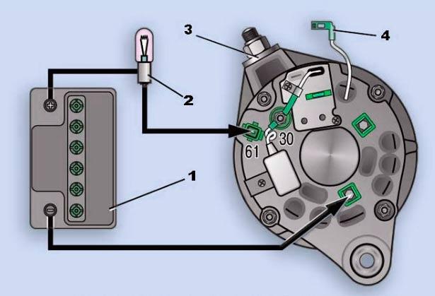 Схема для проверки дополнительных диодов