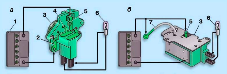 Схемы для проверки регулятора напряжения