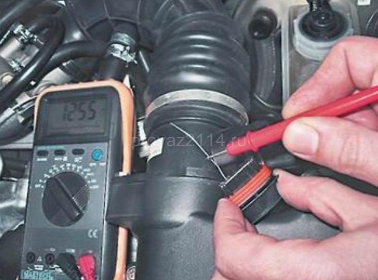 Как проверить и заменить датчик массового расхода воздуха на 2114 2