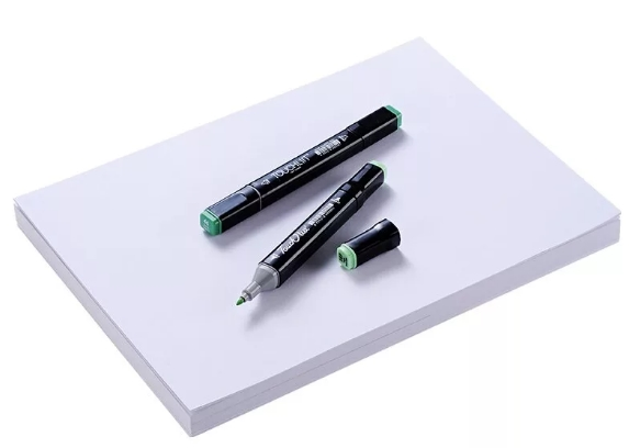 Листок бумаги и маркер