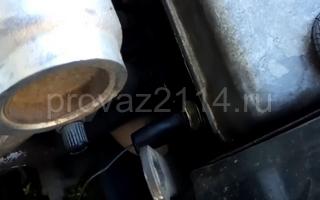 Замена датчика ваз 2114 10