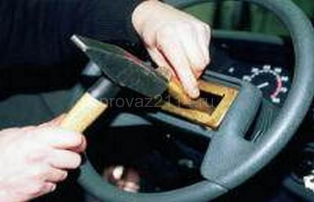 Демонтаж рулевой колонки с промежуточным валом 9